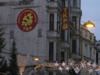 Christmas lights & Communist Symbols
