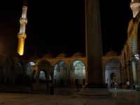 Courtyard of the Blue Mosque at night